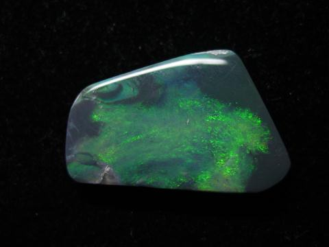 A gorgeous black opal from Lightning Ridge